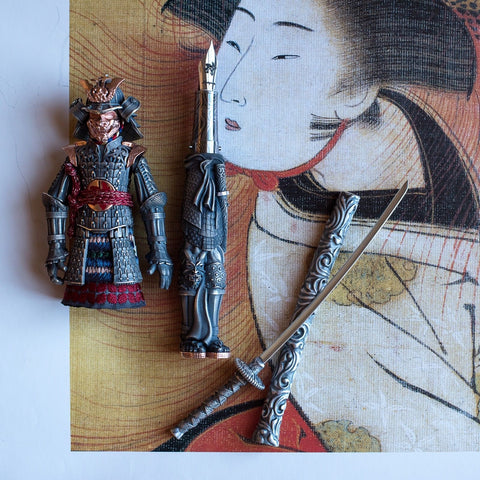 Montegrappa Samurai Figurine Pen With Japanese Artwork