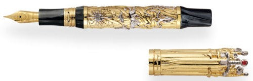 Montegrappa – Game of Thrones Solid Gold The Iron Throne Fountain Pen