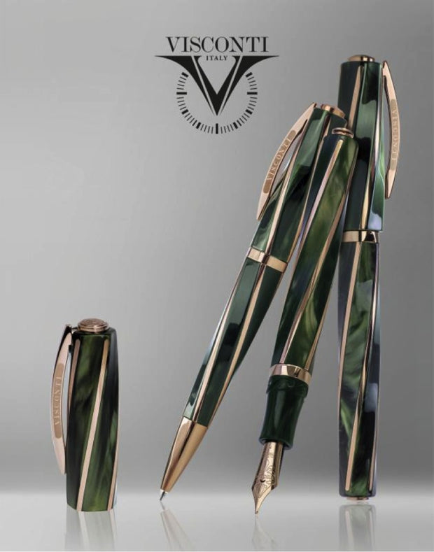 Visconti Divina Elegance Green & Bronze Ballpoint Pen-Visconti-Truphae
