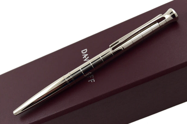 Davidoff Velero Metal Body Palladium Trim Striped Pattern Ballpoint Pen-Davidoff-Truphae