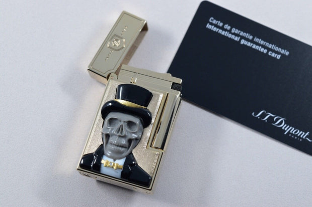 ST Dupont Stones of Fortune Dandy Skull Limited Edition of 8 Lighter & Sculpture-ST Dupont-Truphae