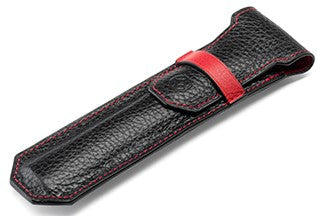 Montegrappa Pen Case, Black & Red
