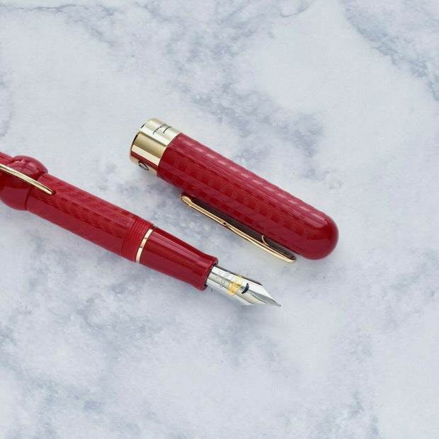 Conklin Mark Twain Red Chase Crescent Filler Fountain Pen