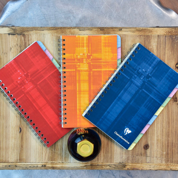 Clairefontaine Classic Wirebound 8 Tabs Graph Pocket Notebook