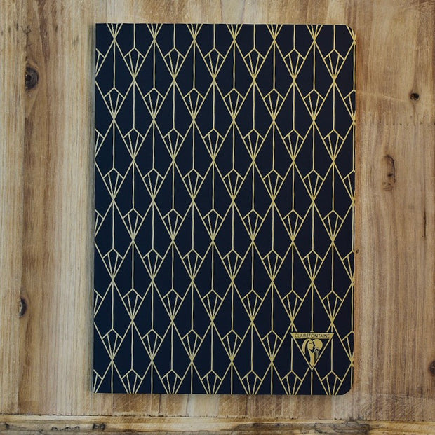 Clairefontaine Neo Deco A5 Black Diamond Lined Notebook