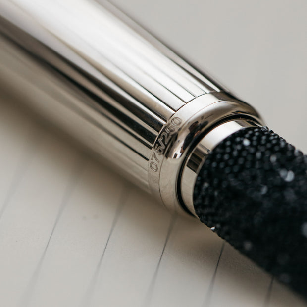 Dunhill Sentryman Black Swarovski Diamonds Fountain Pen