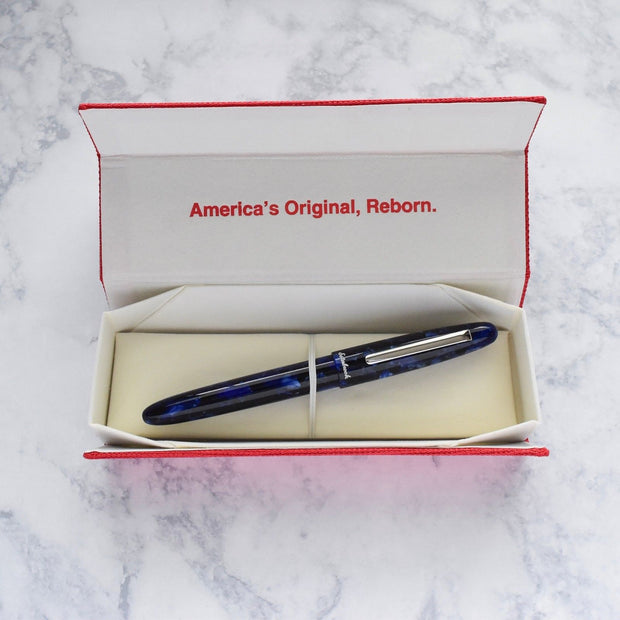 Esterbrook Estie Cobalt Blue & Chrome Plated Trim Fountain Pen-Esterbrook-Truphae
