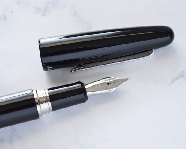 Esterbrook Estie Ebony Black & Chrome Plated Trim Fountain Pen-Esterbrook-Truphae