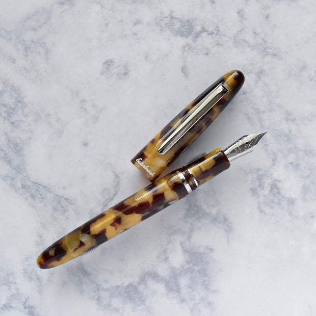 Esterbrook Estie Tortoise Brown & Chrome Plated Trim Fountain Pen-Esterbrook-Truphae
