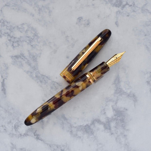 Esterbrook Estie Tortoise Brown & Gold Plated Trim Fountain Pen-Esterbrook-Truphae