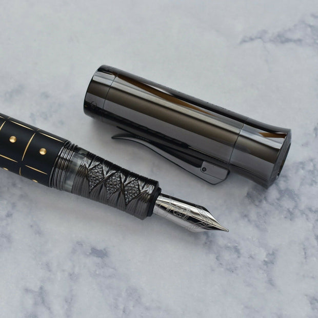 Graf von Faber Castell Pen of the Year 2019 Samurai Black Edition Fountain Pen