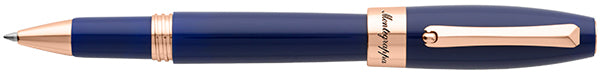 Montegrappa Fortuna Blue Rose Gold Trim Rollerball