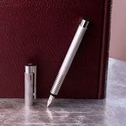 LAMY Logo Brushed Stainless Steel Fountain Pen