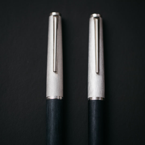 Montblanc 225 Matte Black & Brushed Silver Fountain Pen