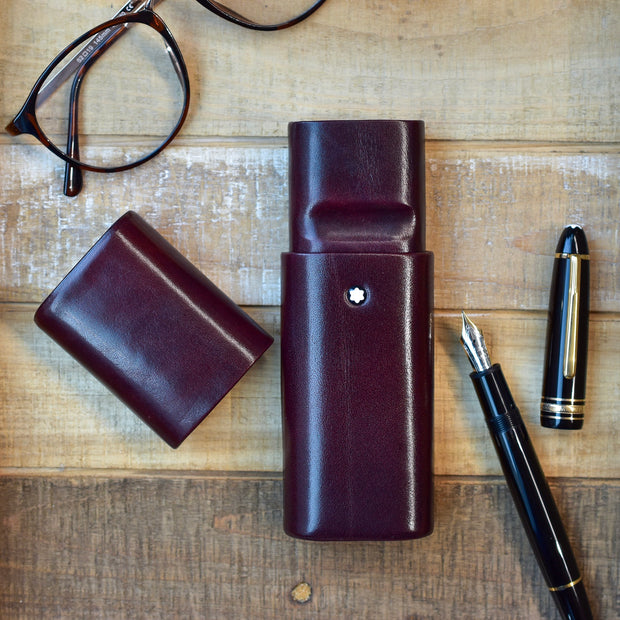 Montblanc Florence Bordeaux Smooth Leather Pen Case