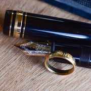 Montblanc Meisterstuck - fully black precious resin body with gold plated trim