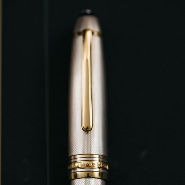 Montblanc Meisterstuck 146 Sterling Silver Barley LeGrand Fountain Pen