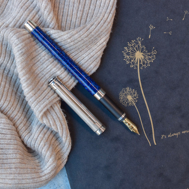 Montblanc Noblesse Oblige Blue Marble Fountain Pen