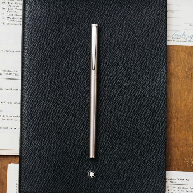 Montblanc Slimline 1122 Stainless Steel Fountain Pen