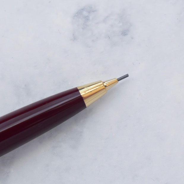 Montblanc Meisterstuck 117R Burgundy Bordeaux & Gold Plated Mechanical Pencil-Montblanc-Truphae