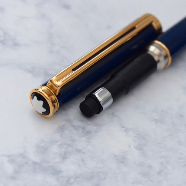 Montblanc Noblesse Dark Blue & Gold Plated Trim Mechanical Pencil 0.7mm