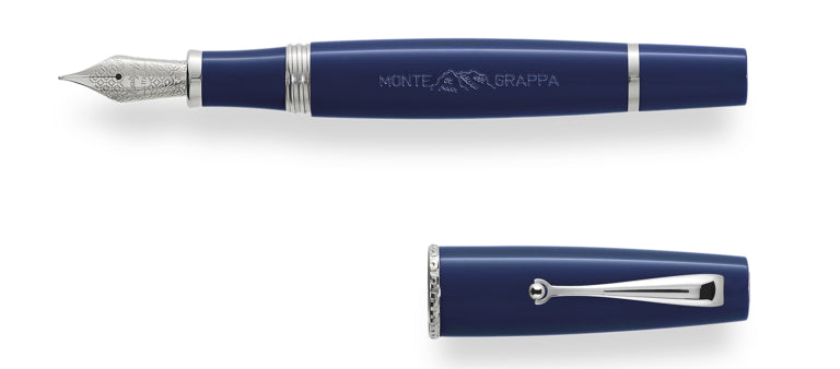 Montegrappa Monte-Grappa Blue Resin Fountain Pen 14k Gold Nib