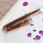 Fortuna Brushed Copper Mule Fountain Pen With A Steel Nib