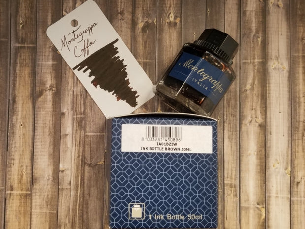 Montegrappa Coffee Ink Bottle 50 ml-Montegrappa-Truphae
