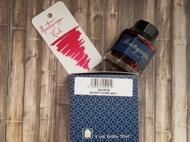Montegrappa Red Ink Bottle 50 ml-Montegrappa-Truphae