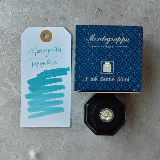 Montegrappa Turquoise Ink Bottle 50 ml
