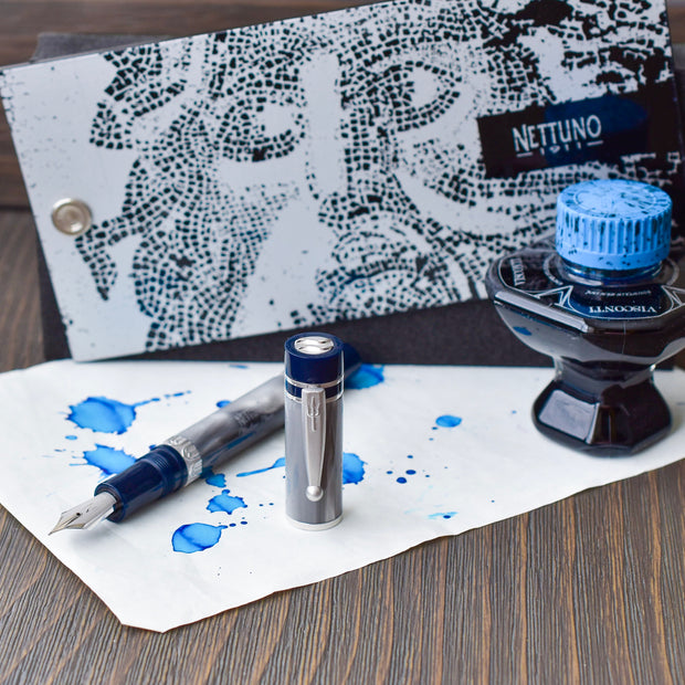 Nettuno 1911 Tritone Blue And Grey Fountain Pen