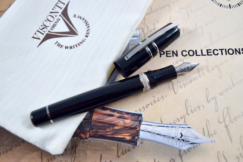 Visconti Homo Sapiens Elegance Black & Palladium Midi Fountain Pen