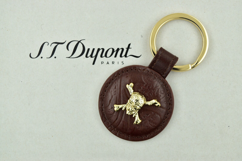 ST Dupont Pirates of the Caribbean Vintage Brown Leather Key Ring