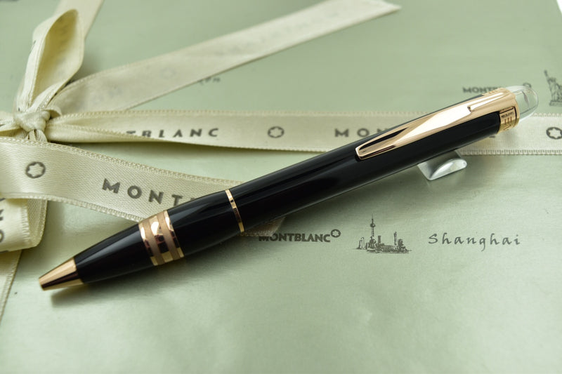 Montblanc Starwalker Black & Red Gold Ballpoint Pen
