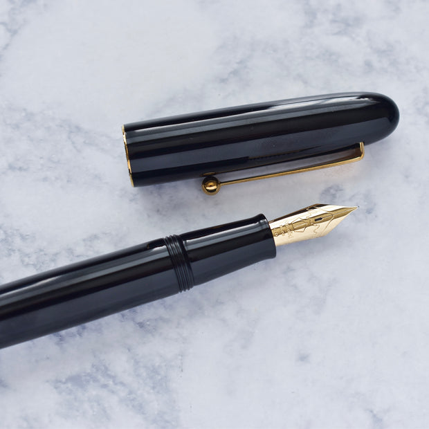 Namiki Yukari Royale Collection Black Urushi Lacquer Fountain Pen 18k Nib-Namiki-Truphae
