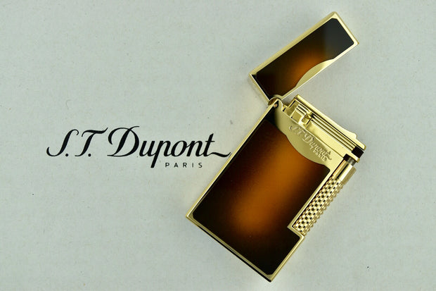 ST Dupont Le Grand Sunburst Brown Natural Lacquer & Gold Lighter ST023012-ST Dupont-Truphae