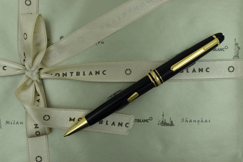 Montblanc Meisterstuck 165 Black & Gold Plated Trim Mechanical Pencil 0.7mm
