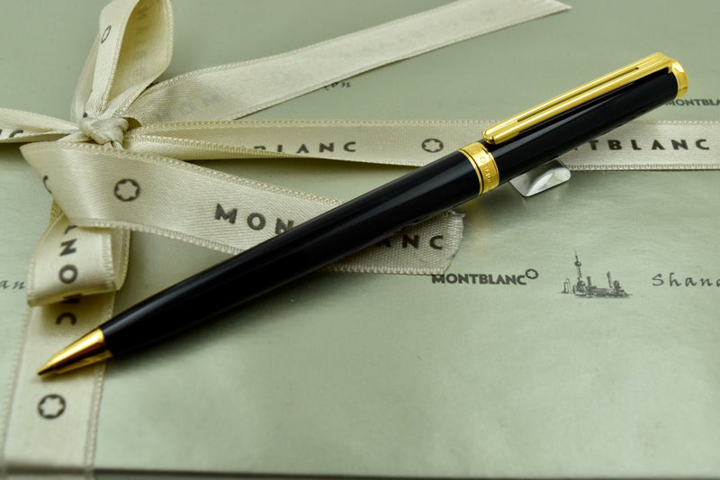 Montblanc Noblesse Oblige Black & Gold Plated Trim Mechanical Pencil 0.7mm