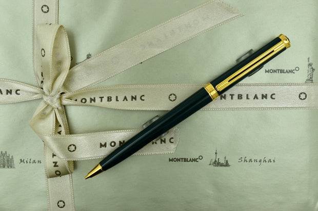 Montblanc Noblesse Dark Green & Gold Plated Trim Mechanical Pencil 0.7mm