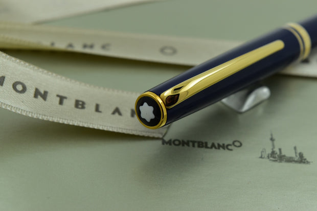 Montblanc Generation Dark Blue & Gold Plated Trim Ballpoint Pen-Montblanc-Truphae
