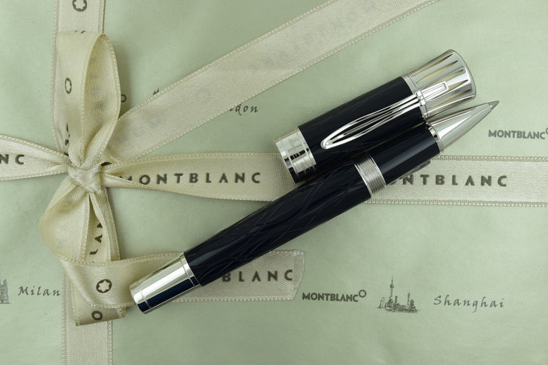 Montblanc Writers Limited Edition Year 2010 Mark Twain Blue Rollerball Pen