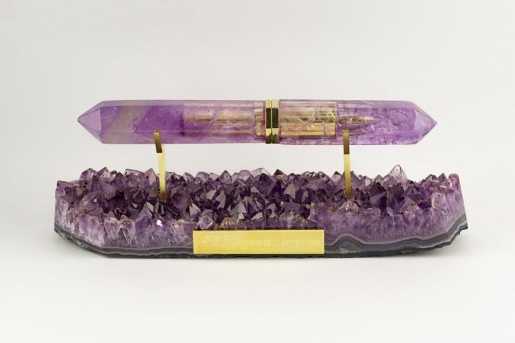ST Dupont Stones Fortune L'Aquart Amethyst Limited Edition 88 Fountain Pen #1/88