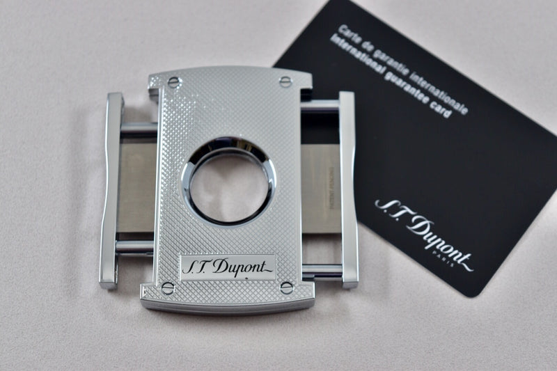 ST Dupont Maxijet Chrome Finish Diamond Cut Cigar Cutter ST003257