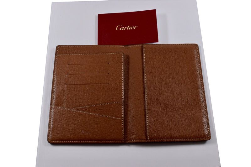 Cartier Black Calfskin Leather Credit Card / Passport Holder Wallet