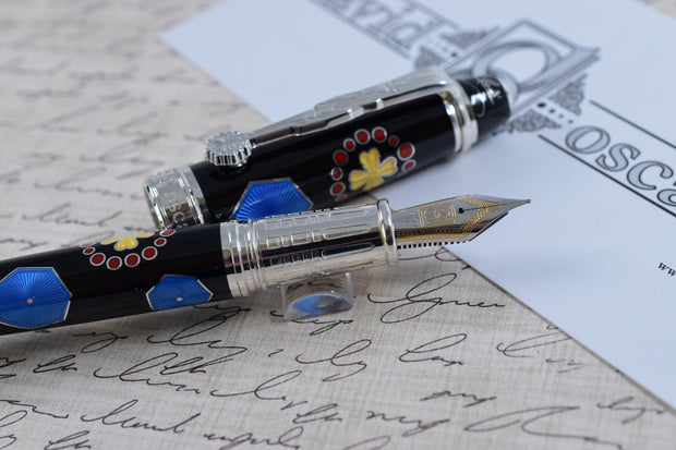 David Oscarson Limited Edition 73 La Sagrada Familia Gaudi Black Rollerball Pen