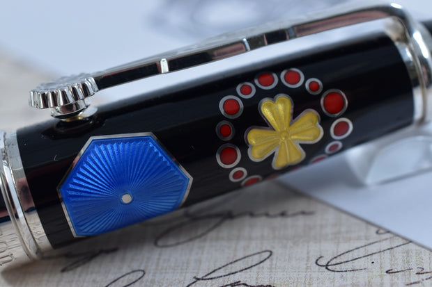 David Oscarson Limited Edition 73 La Sagrada Familia Gaudi Black Rollerball Pen-David Oscarson-Truphae