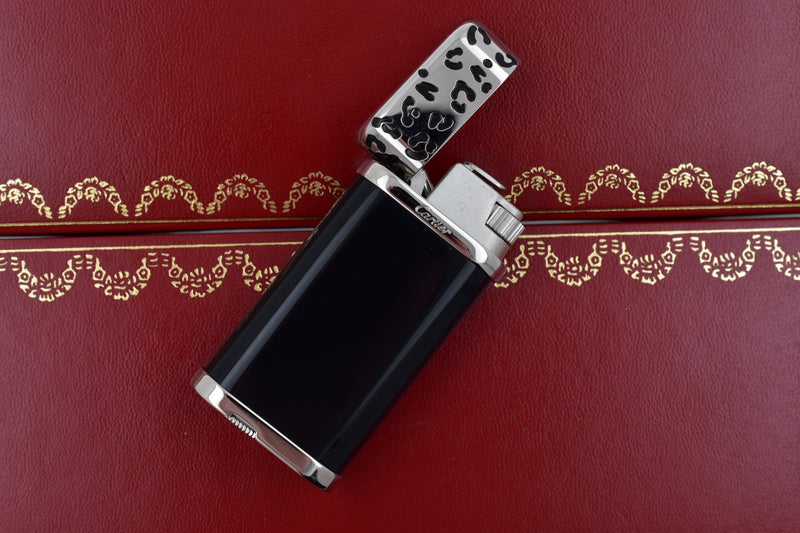 Cartier Panthere Black & Stainless Steel Body Lighter CA120149