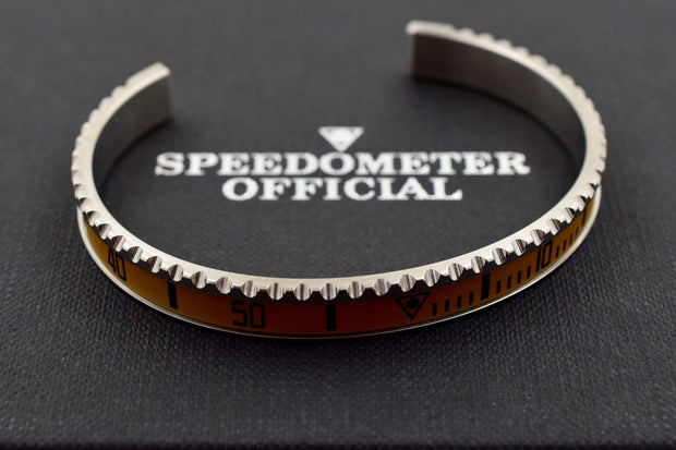 Speedometer Official Silver Steel Vintage Matt Sand Gold Black Bangle Bracelet-Speedometer Official-Truphae