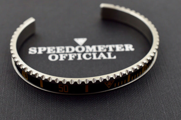 Speedometer Official Silver Steel Vintage Matt Black & Sand Gold Bangle Bracelet-Speedometer Official-Truphae