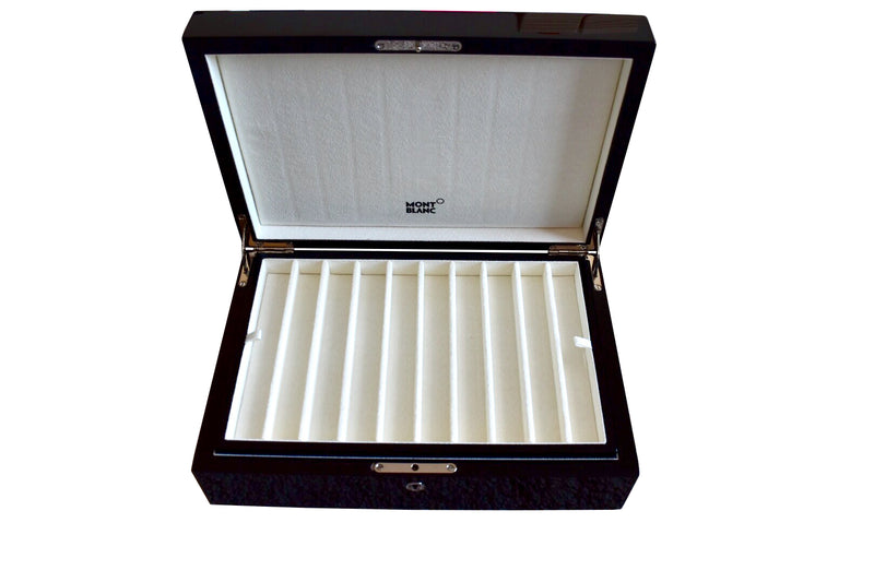 Montblanc Meisterstuck Black Lacquer Wood Collectors Box Case for 20 Pens 112558